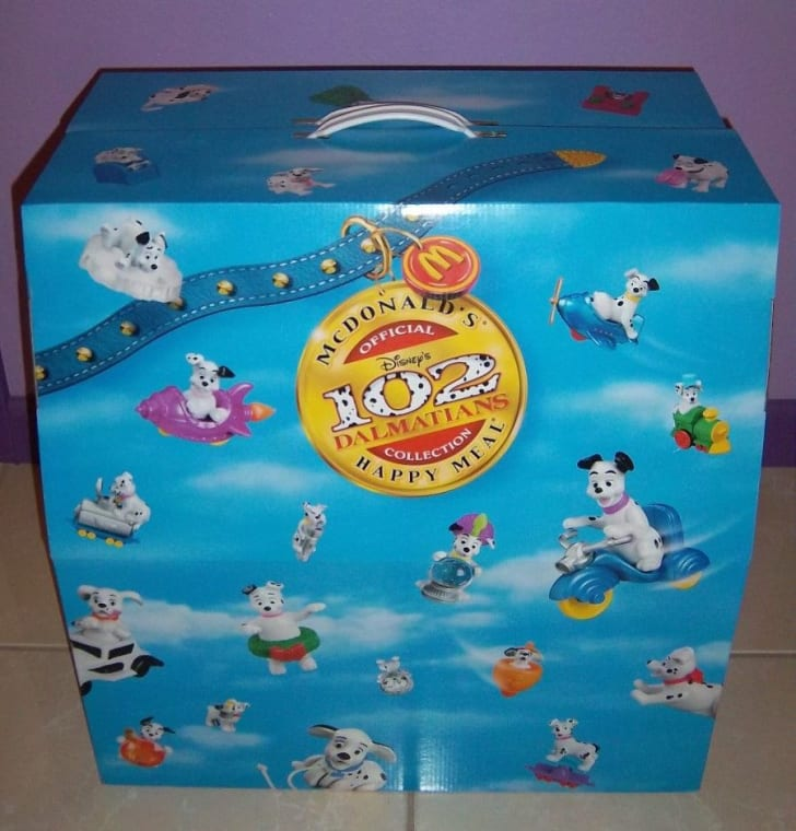 A 102 Dalmations box for sale on eBay.