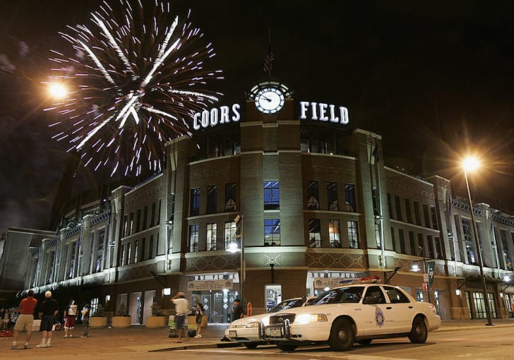 Coors Field, home of the Colorado Rockies, in Denver, Colorado.