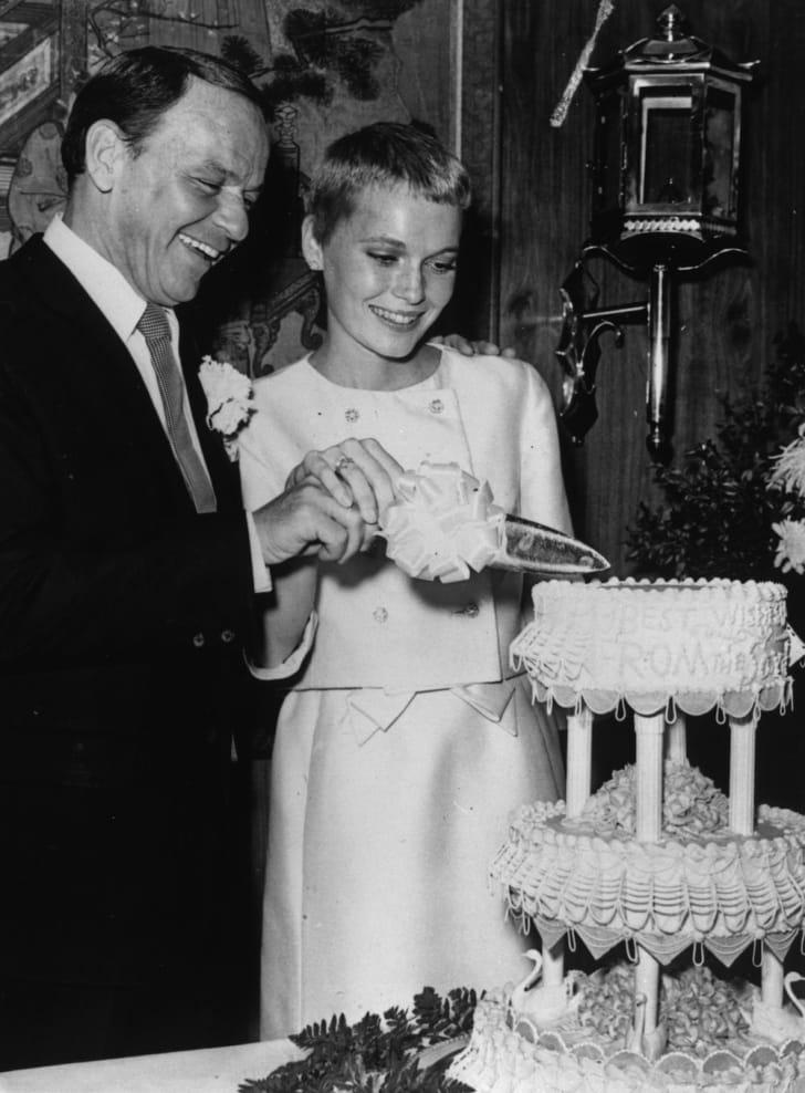The wedding of Frank Sinatra and Mia Farrow.