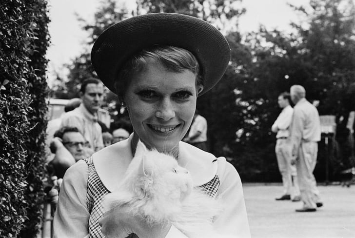 Mia Farrow on the set of 'Rosemary's Baby.'