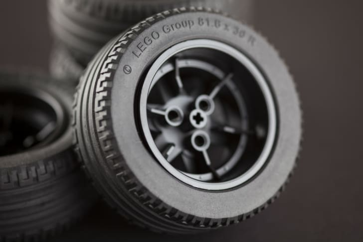 A LEGO toy tire