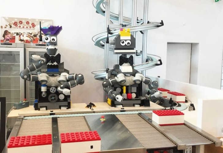 At the MINI CHEF family restaurant, located inside the LEGO House in Billund, Denmark, customers build their own order out of LEGO bricks  and have them served by dancing robots.