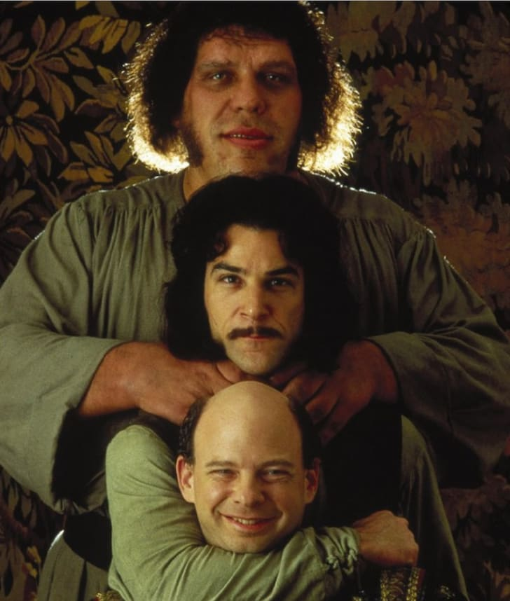 Andre the Giant, Mandy Patinkin and Wallace Shawn in The Princess Bride (1987).