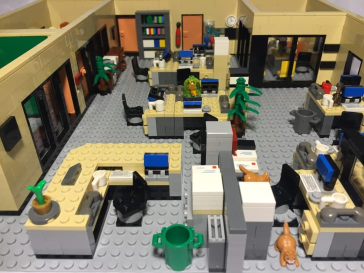 LEGO fan Jaijai Lewis's design of the Dunder Mifflin Paper Company, Inc., a fictional paper company from NBC's TV show 'The Office.'