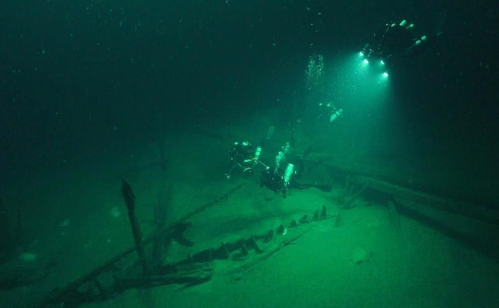 A Roman shipwreck discovered by an international team of researchers in the Black Sea.