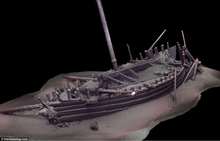A 3D recreation of a Roman galley discovered by an international team of researchers in the Black Sea.