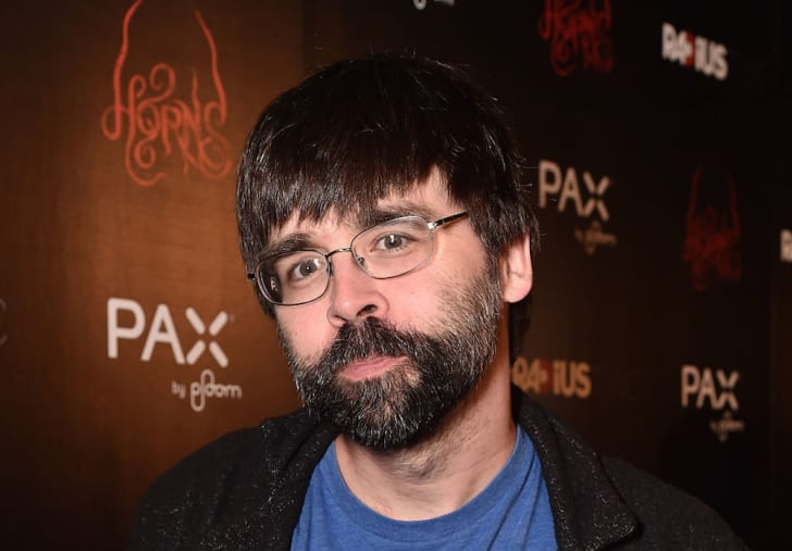 A photo of Stephen King's son, author Joe Hill