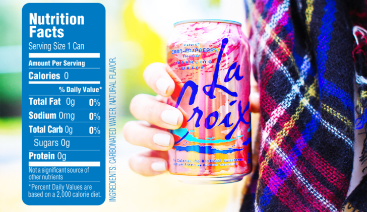 A look at the nutritional information for LaCroix water