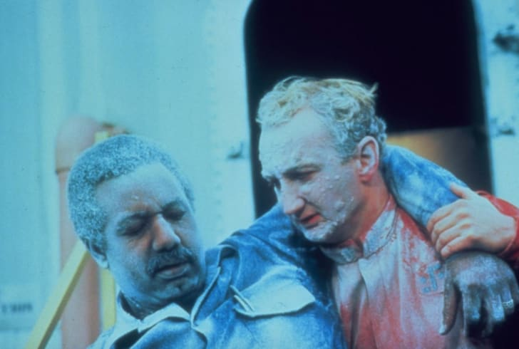 Jason Bernard and Robert Englund star in the NBC miniseries 'V' (1983).
