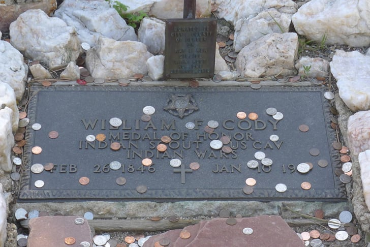 Pennies on Buffalo Bill's grave