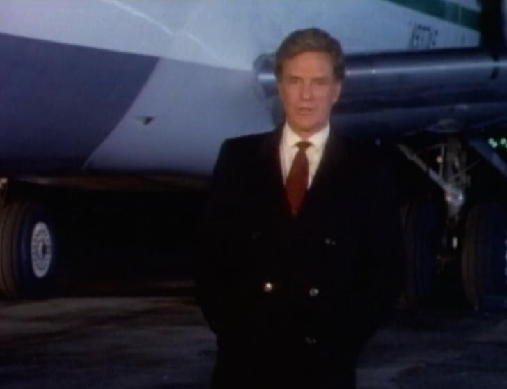 Robert Stack hosts the first season of Unsolved Mysteries