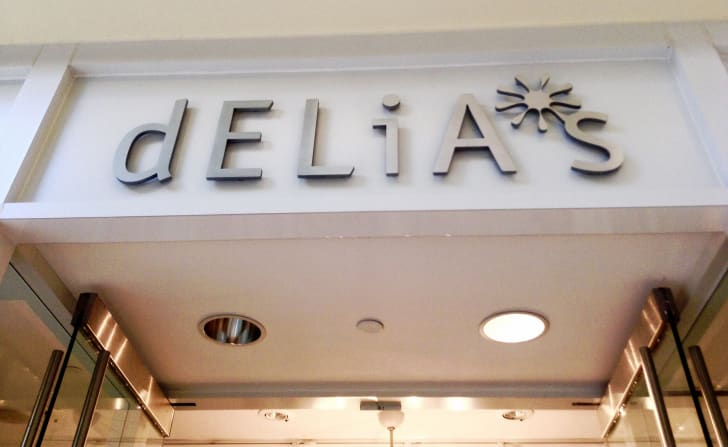 A Delia's storefront.