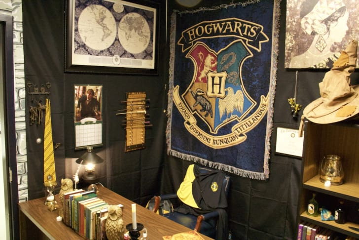 Inside of Harry Potter-themed classroom.