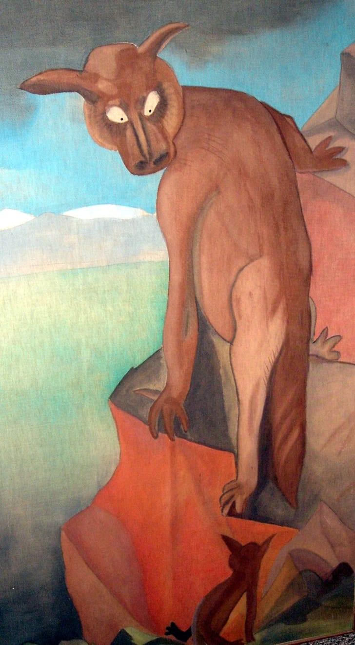 An artist's rendering of a Wampahoofus
