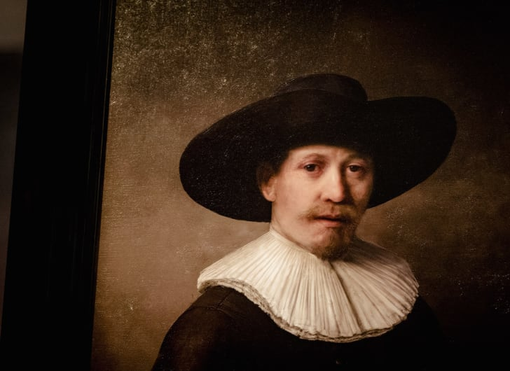 """""""New"""" rembrandt painting made by artificial intelligence."""