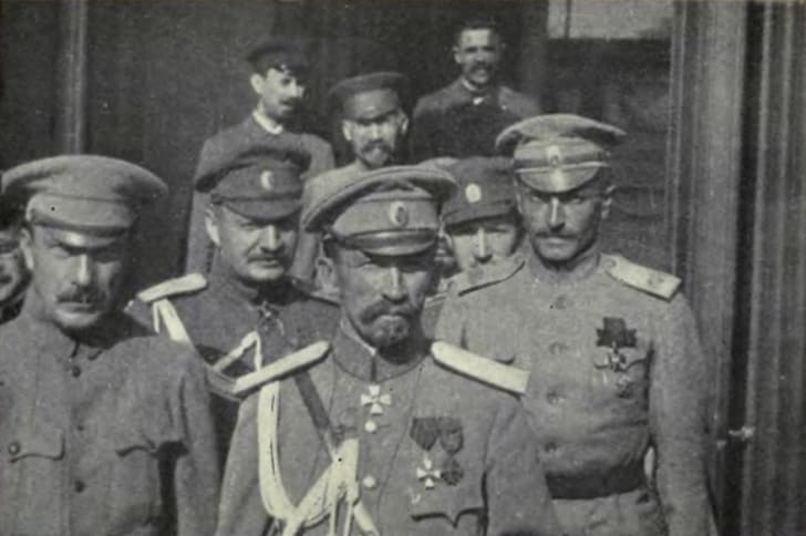General Kornilov and his staff