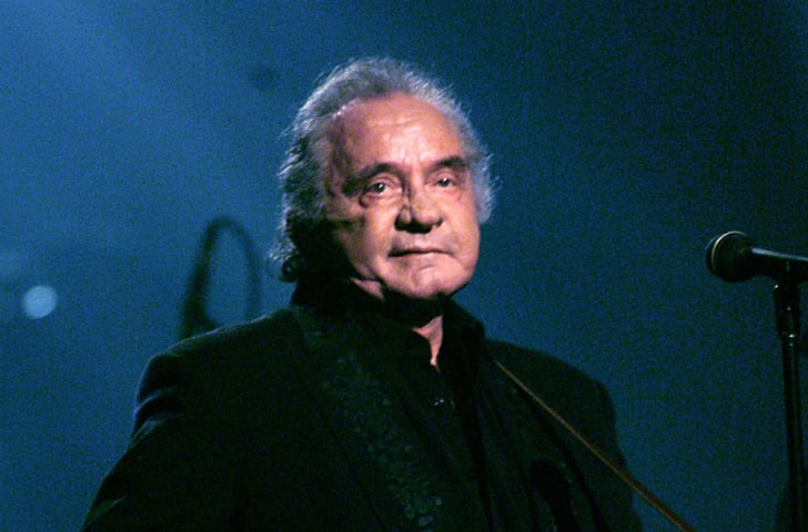 Musician Johnny Cash is seen at a public appearance