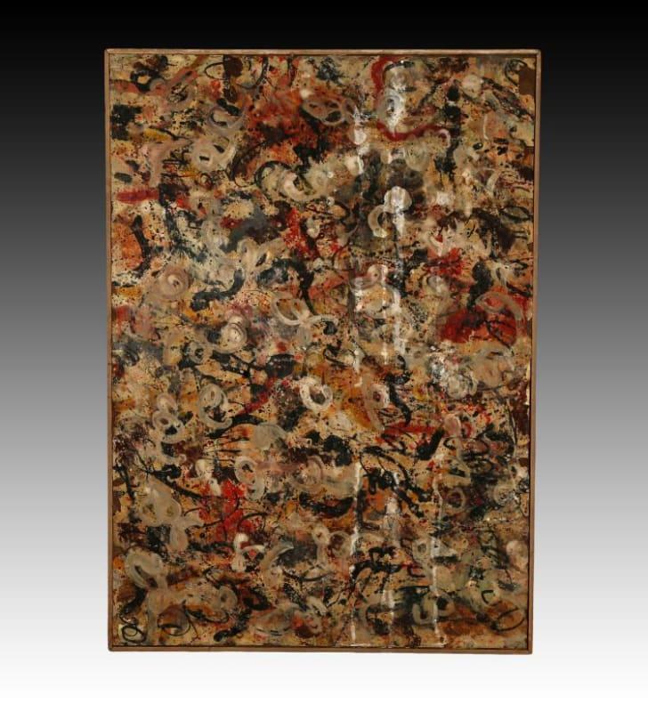 """""""Untitled Gouache,"""" Jackson Pollack, 1912 to 1956"""