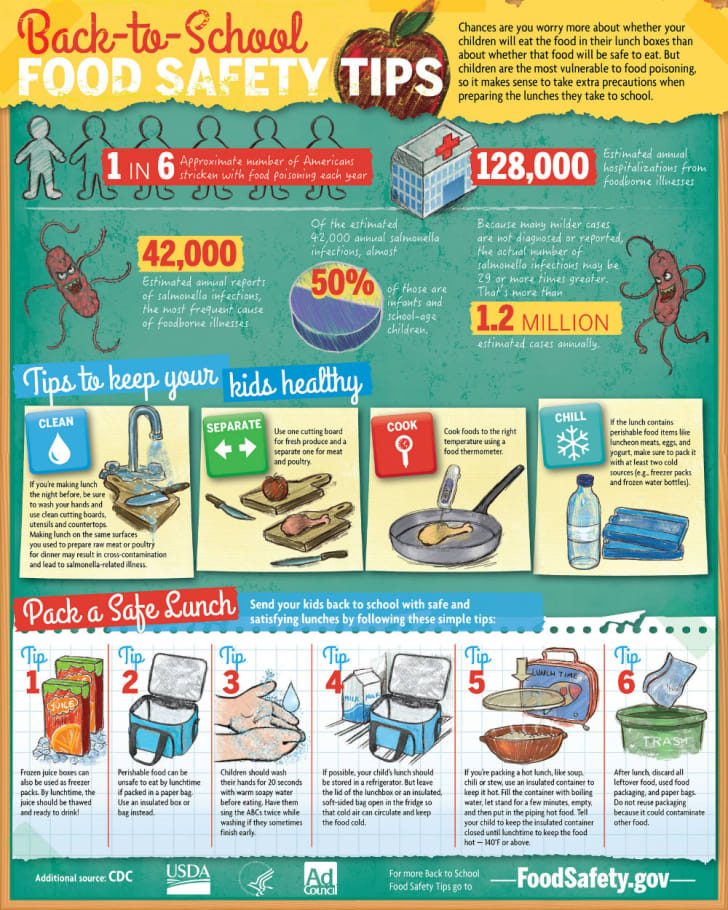 A USDA food safety infographic