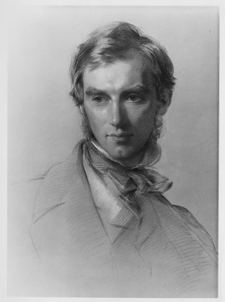 Chalk portrait of Joseph Dalton Hooker by George Richmond, 1855