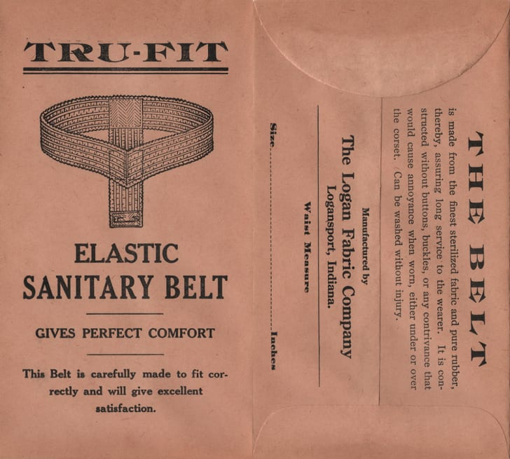 An old package for a Tru-Fit sanitary belt