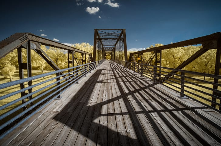 A photo of the Old Moore's Crossing Bridge in Austin, Texas
