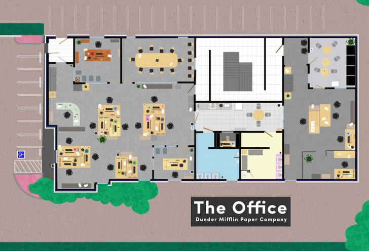 Floor plan of office.