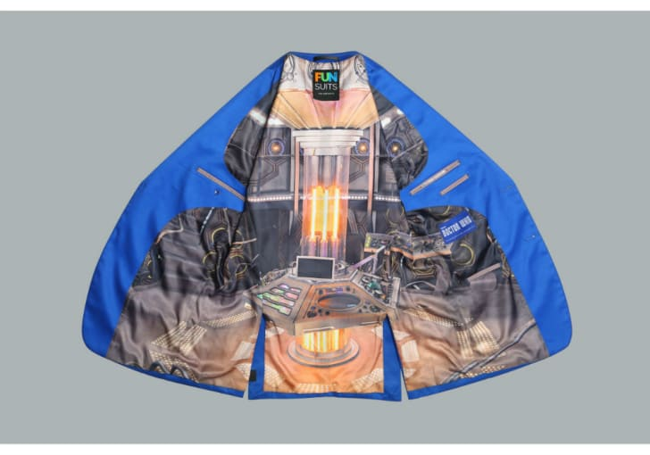 The interior of the 'Doctor Who' dress jacket
