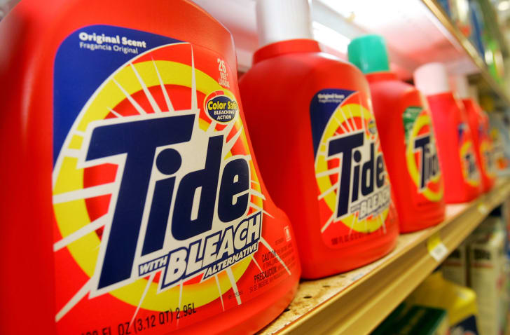 Tide laundry detergent bottles