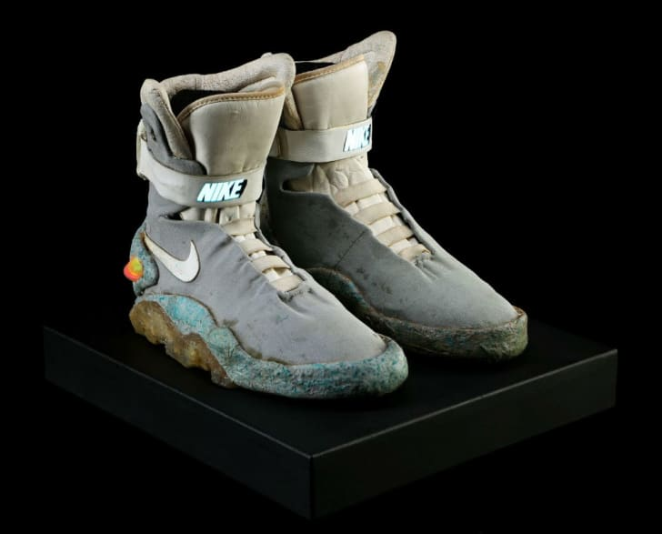 Marty McFly's shoes as seen in 'Back to the Future II'