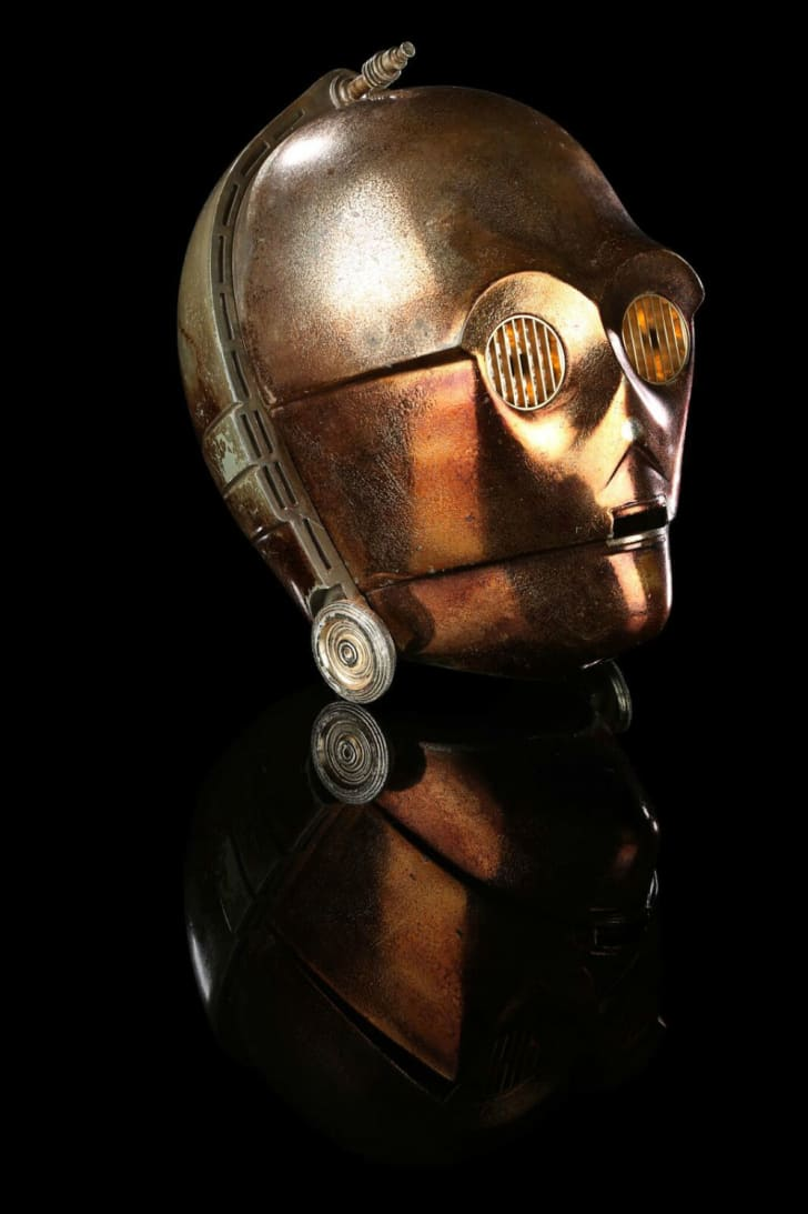 A prop C-3PO head used in 'The Empire Strikes Back'