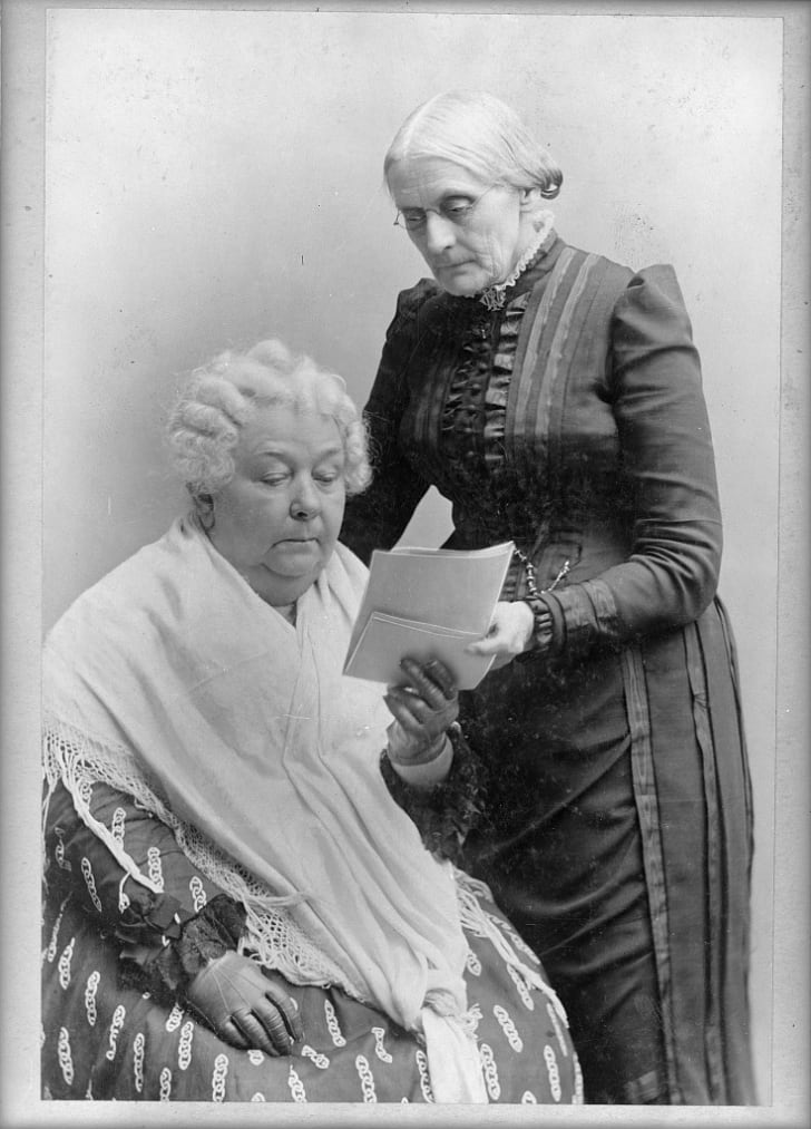 Elizabeth Stanton and Susan B Anthony