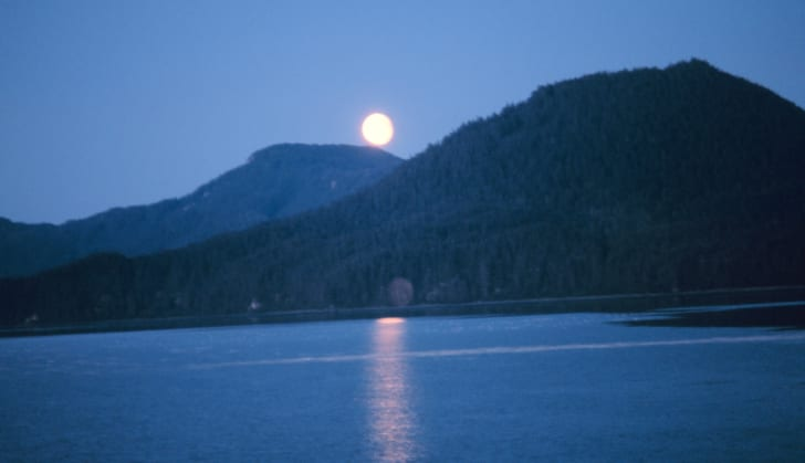 Moonrise on Hobart Bay