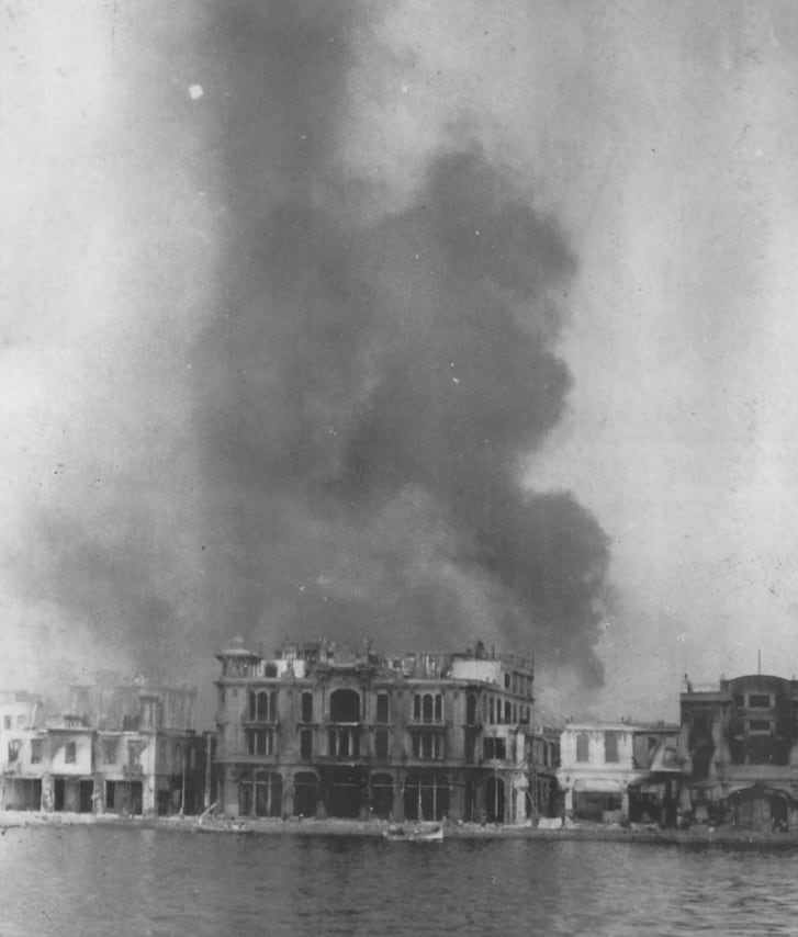 Hotel Splendid in Thessaloniki during the Great Fire in 1917