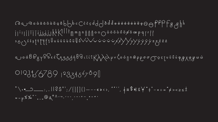 Font changes shape as you type.