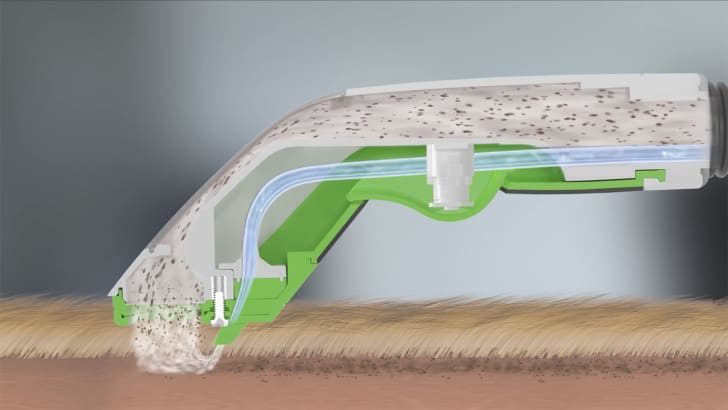 A cross-section shows the BarkBath squirting out water and sucking it up at the same time.