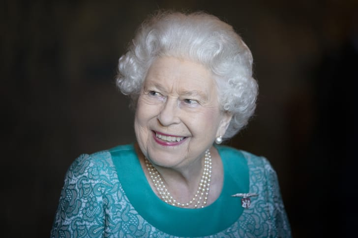 Queen Elizabeth II marks the centenary of GCHQ (Government Communications Head Quarters) at Watergate House on February 14, 2019 in London, England
