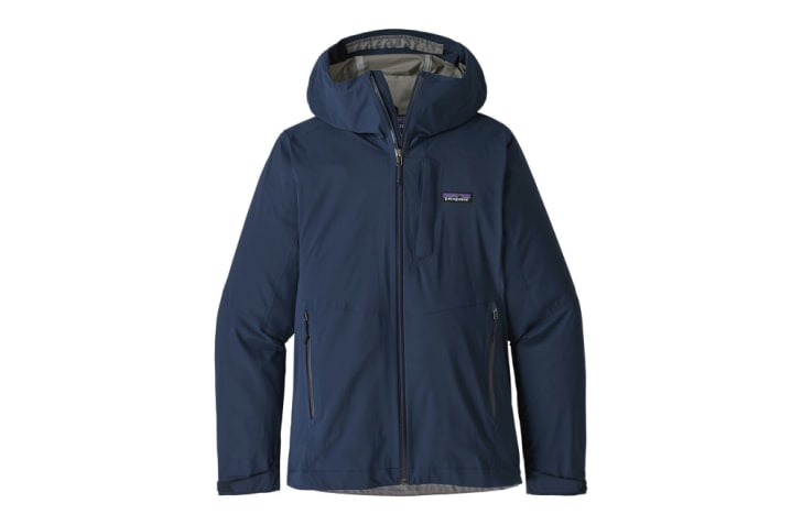 A navy blue Patagonia jacket