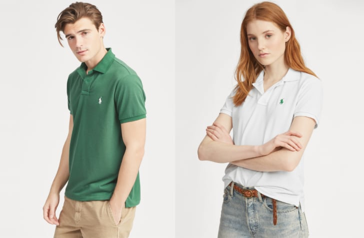 A man and woman in Ralph Lauren Earth Polo shirts