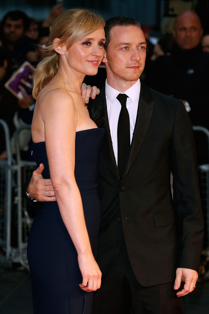 Anne-Marie Duff and James McAvoy attends the Suffragette Premiere during the Opening Night Gala during the BFI London Film Festival at Leicester Square on October 7, 2015 in London, England