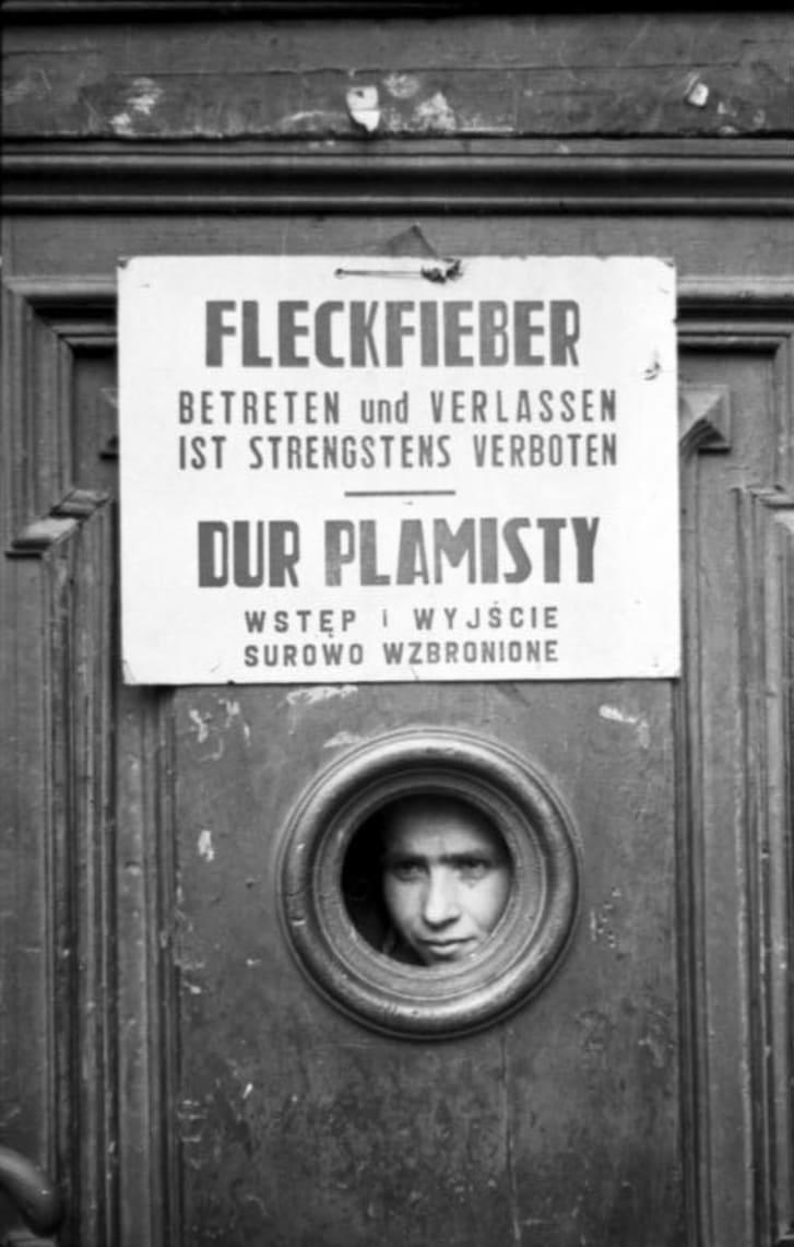 Typhus quarantine signage.
