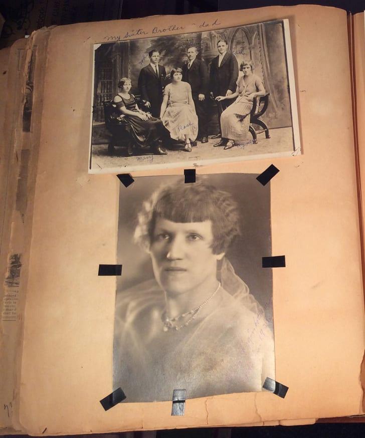 Photos of Agnes Schwarzenbacher and her family
