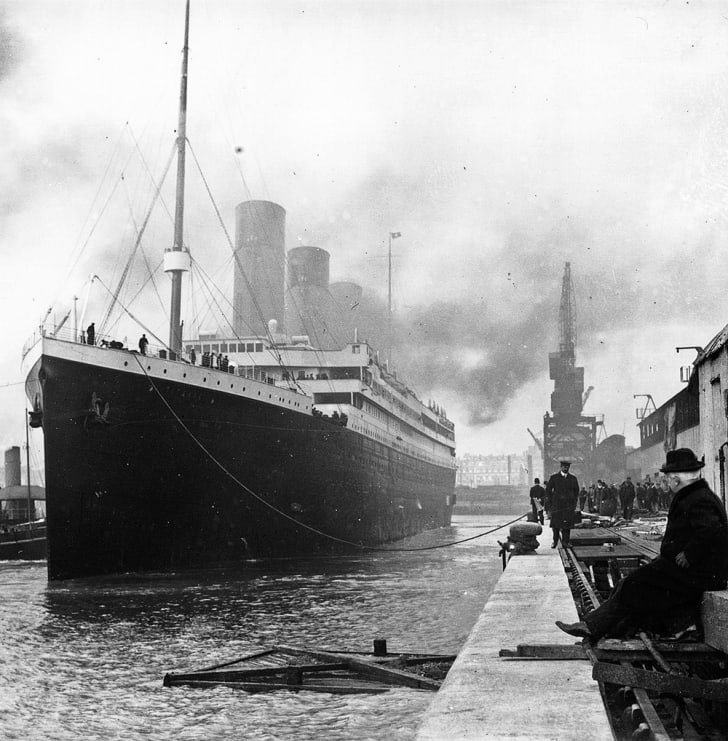 The Titanic at the docks