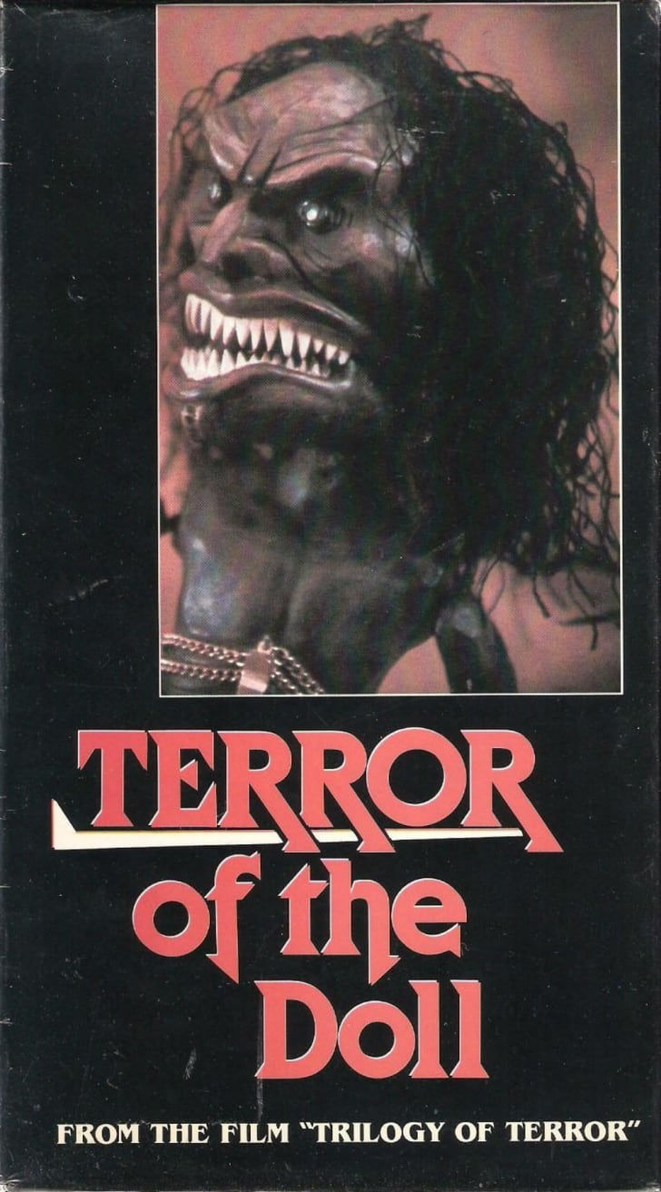 The VHS box art for an early video release of the Zuni doll segment