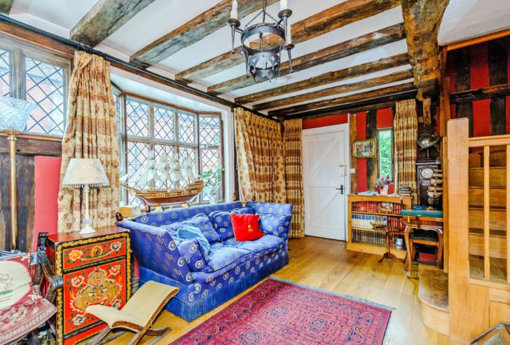 The historic De Vere House in Lavenham, Suffolk, which was used in the 'Harry Potter' films to create Godric's Hollow, is for sale.