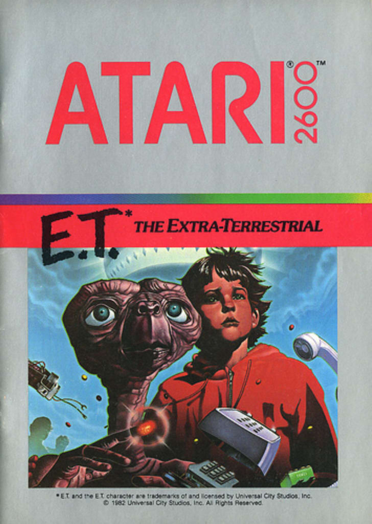 The box art for the Atari 2600 game E.T.