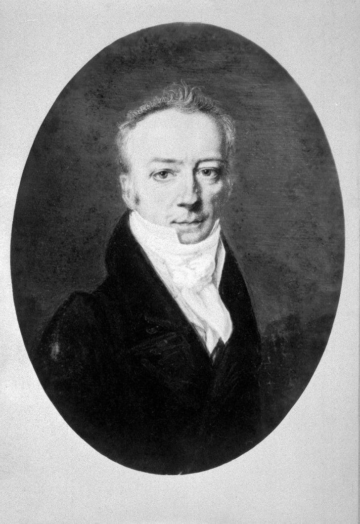 A portrait of James Smithson