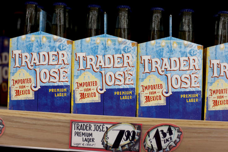Cases of Trader Joe's beer