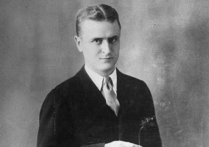A studio portrait of American writer F. Scott Fitzgerald (