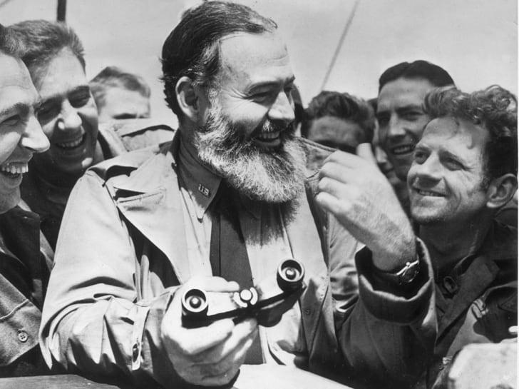 American writer Ernest Hemingway
